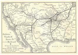 Trolley San Francisco Map by Santa Fe Railroad Map 1831 Frisco Org St Louis San Francisco