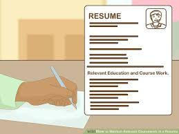 How Do I Add Volunteer Work To My Resume How To Mention Relevant Coursework In A Resume 9 Steps