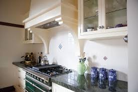 Split Level Style by Green Lacanche In Kitchen With Split Level Island Steding