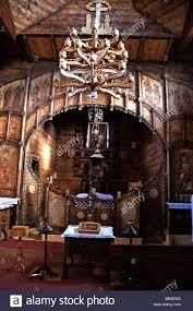 wooden church with no nails transilvania romania stock photo