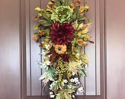 on sale how to make a fall teardrop swag wreath