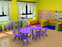 furniture table ce certificate moon shape kindergarten table