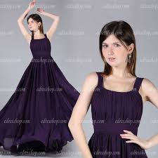 wedding guest dresses for 2013 2013 straps pleated a line purple chiffon maxi