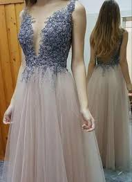 formal gowns lace appliqued tulle prom dresses formal gowns for 2017