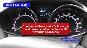 2015 ford fiesta oil light reset service light reset youtube