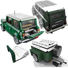 lego mini cooper lego set 10242 mini cooper cabrio van gepäck anhänger grün