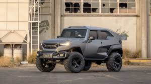 futuristic military jeep the rezvani tank is a 178 000 jeep wrangler unlimited doing sci