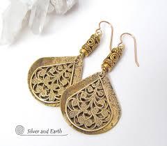 filigree earrings gold brass filigree earrings inspired jewelry