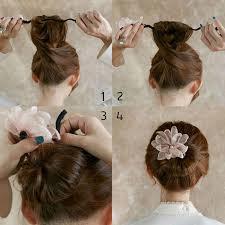 hair bun maker woman flower donuts twist headband magic hair bun maker diy