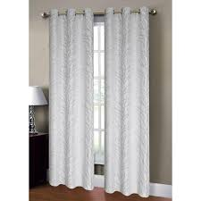Silver Window Curtains Window Elements Semi Opaque Jacquard 84 In L Grommet