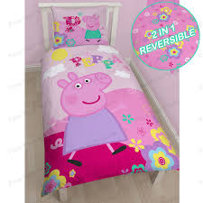 Toddler Duvet Tog Peppa Pig U0026 George Pig Duvet Quilt Covers U2013 Toddler Single
