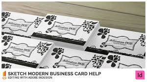 sketch modern business card help editing with adobe indesign