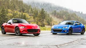 subaru sports car brz 2015 2016 mazda mx 5 miata club vs 2015 subaru brz head 2 head ep
