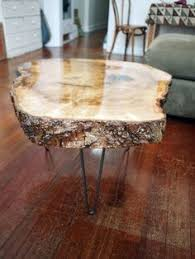 how to make a live edge coffee table craft u0026 diy pinterest
