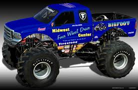 bigfoot monster truck cartoon monster trucks wallpapers wallpaper cave