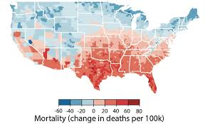 United States Temp Map by Hurricane Harvey Climate Change Could Raise Mortality In Us