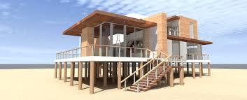 plan 44122td ultra modern 4 bed beach home plan 2nd floor the