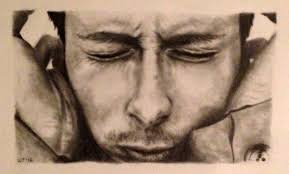 artwork by laura carim todd thom yorke drawing graphite on