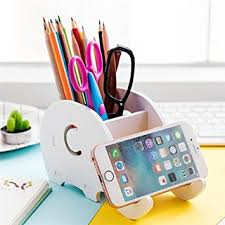 desk phone stand organizer cell phone stand coolbros wood elephant pencil holder with phone