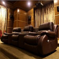 Electric Leather Sofa First Class Home Theater Smart Leather Sofa Chair Electric