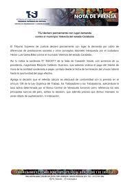 calculo referencial de prestaciones sociales en venezuela tsj venezuela on twitter tsj declaró parcialmente con lugar