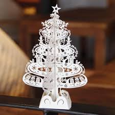 christmas tree gifts 3d laser cut pop up cards decoration greeting