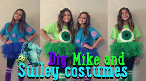 sully costume diy mike and sulley costumes jaelyn and kaley