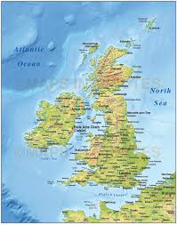 Map Of England With Cities by Digital Vector British Isles Uk Map Basic Country With Medium