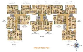 typical floor plan melodia flats for sale in melodia at vaishali nagar by purple