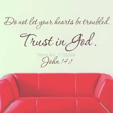 wall sticker quotes trust in god removable christian wall art
