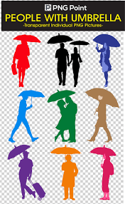 Clip Umbrella Silhouettes Images Icons And Clip Arts Of People With Umbrella In