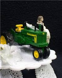 tractor cake topper country western deere tractor wedding cake topper farmer barn
