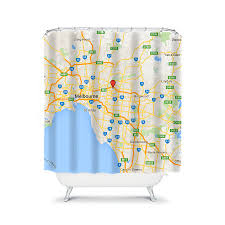 Map Of The World Shower Curtain by Custom Shower Curtain Map Shower Curtain Personalized Shower