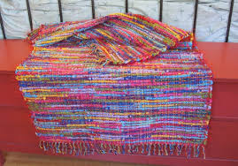Multi Color Rug Rugs Afghans And Scarves My Pentwater Cousin Weaves Them All