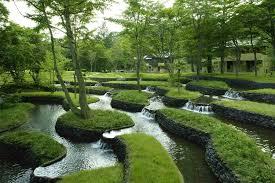 japanese garden image japanese garden waterfall jpg philosophy of megaten wiki