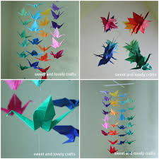 sweet and lovely crafts origami crane mobile