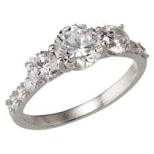 cubic zirconia engagement rings silver plated fancy cut cubic zirconia engagement ring size 6