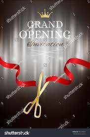 Inauguration Invitation Card Sample Grand Opening Invitation Card Cut Red Stock Vector 461234002