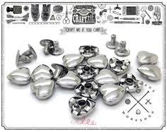 Decorative Snaps 50sets 12mm Gunmetal Snap Fasteners Heavy Duty By Craftmestudio