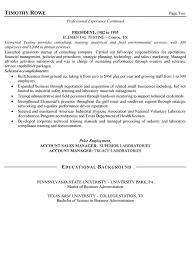 Executive Resume Format Template Sales Manager Resume Example