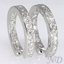 inside out diamond hoop earrings 1 ct f vs2 inside out diamond hoops hoop earrings