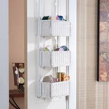 White Wicker Bathroom Storage by Over The Door Bathroom Storage Bathroom Storage Collections