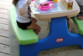 little tikes easy store picnic table little tikes easy store picnic table with umbrella mommymandy l