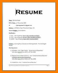 Best Simple Resume by Download Simple Resume Format Haadyaooverbayresort Com