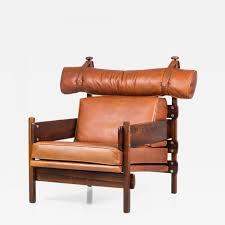 Orange Leather Chair Sergio Rodrigues