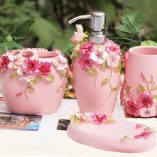 shabby chic pink bathroom set 5pcs shabby chic pink shabby and