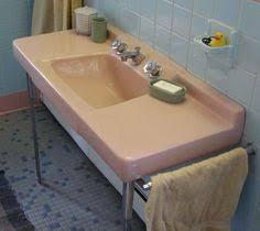 kohler bathroom plumbing fixtures in peachblow pink 1957