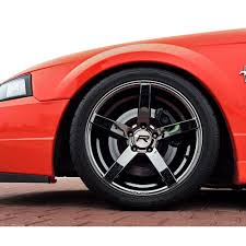 Black And Red Mustang Rims Rovos Mustang Durban Wheel 18