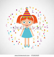 happy birthday celebration card kid vector stock vector 571602865