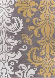 Modern Damask Rug Home Glamorous Grey And Gold Area Rugs Modern Retro Metallic